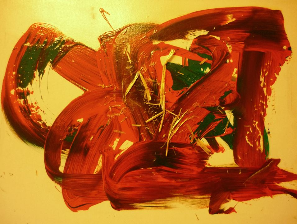 "Kunstwerk des Orang Utan ""Barito"" (c) Ingensiep"