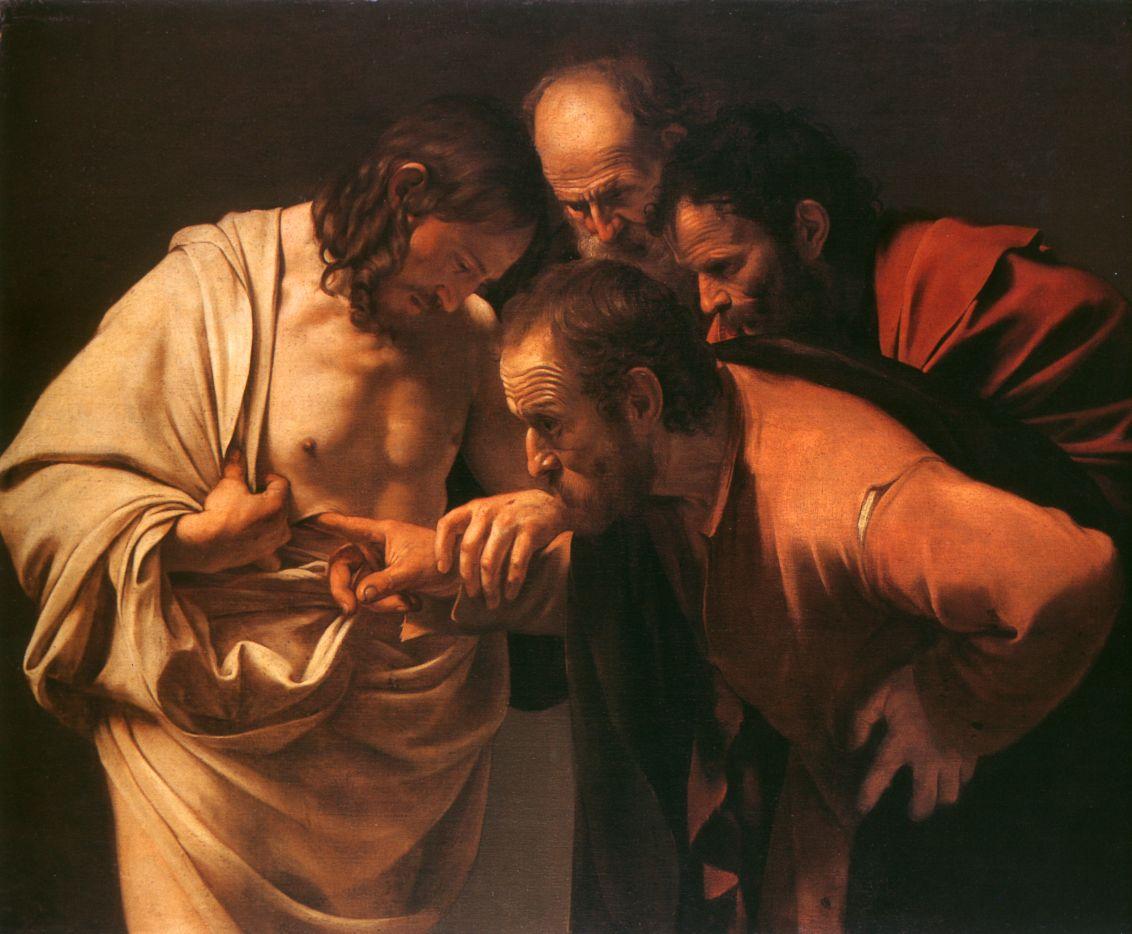 Polidoro Caldaria da Caravaggio: Der ungläubige Thomaspublic domain