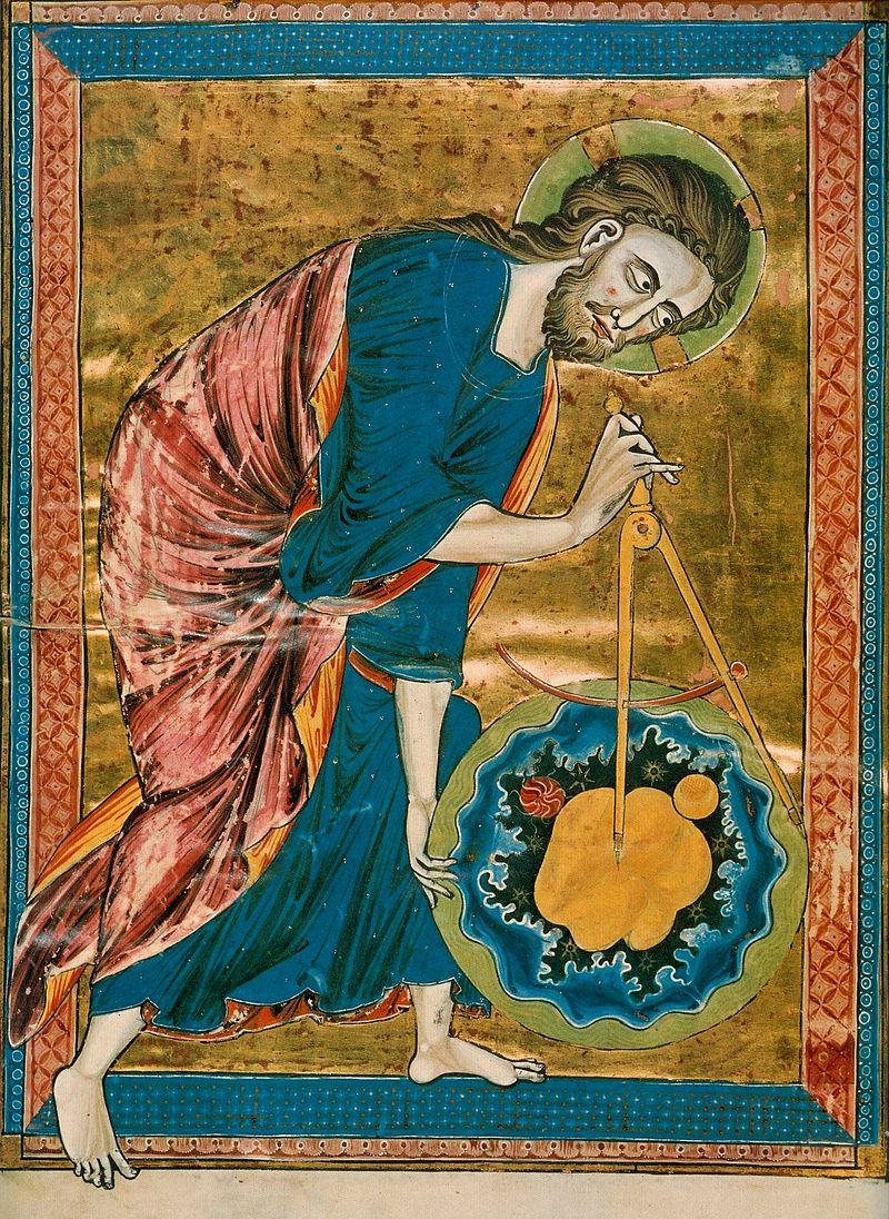 Schöpfer mit Zirkel